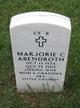 """Profile photo:  Marjorie C """"Marge"""" <I>Hegeman</I> Abendroth"""