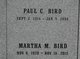 Profile photo:  Martha Catherine <I>Minier</I> Bird