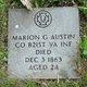 Pvt. Marion G. Austin