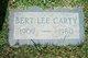 Profile photo:  Bert Lee Carty