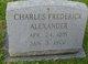 Profile photo:  Charles Frederick Alexander