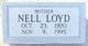 "Profile photo:  Alice Nell ""Nanny"" <I>Simpson</I> Loyd"
