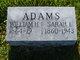 Sarah Isabelle <I>Sanders</I> Adams