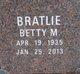 Profile photo:  Betty M <I>Capaul</I> Bratlie