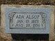 Profile photo:  Ada <I>Clayton</I> Alsop