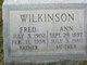Profile photo:  Ann C. <I>Esley</I> Wilkinson