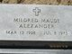 "Mildred Maude ""Millie"" <I>Mongold</I> Alexander"