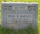 Profile photo:  Irma Rachel <I>Miles</I> Barnes