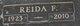 Profile photo:  Reida <I>Finafrock</I> Aldridge