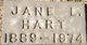 Jane Lenore <I>Moore</I> Hart