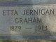 Mary Etta <I>Jernigan</I> Graham