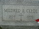Profile photo:  Mildred R Clyde