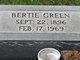 Profile photo:  Bertie Green