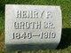 Henry F Groth Or Groat Sr.