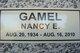 Nancy Evelyn <I>Lewis</I> Gamel