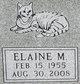 Profile photo:  Elaine M Blessing