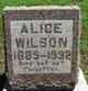Profile photo:  Alice Wilson