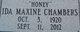 Ida Maxine <I>Holloway</I> Chambers