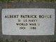 Profile photo:  Albert Patrick Boyle