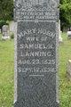 Mary <I>Horn</I> Lanning