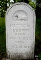Hattie M Brown