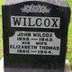 Elizabeth <I>Thomas</I> Wilcox
