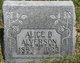 Profile photo:  Alice B. <I>Zimmerman</I> Alverson