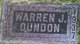 Profile photo:  Warren Dundon