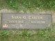 Sara <I>Groves</I> Carter