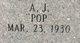 "Profile photo:  A. J. ""Pop"" Shirey"