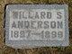 Profile photo:  Willard Spenser Anderson