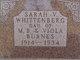Sarah <I>Burnes</I> Whittenberg