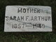 Sarah Frances <I>Brink</I> Arthur