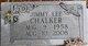 """Jimmy Lee """"Shoestrang"""" Chalker"""