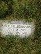 Sarah M <I>Marcum</I> Johnson