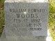 """William Edward """"Shorty"""" Woods"""