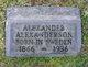 Profile photo:  Alexander Alexanderson
