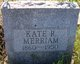 "Profile photo:  Katherine R ""Kate"" <I>Riddle</I> Merriam"
