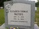 "Elizabeth ""Liz"" <I>Thomas</I> Waters"