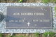Profile photo:  Ada <I>Rogers</I> Fisher