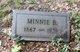 Minnie B <I>Sharp</I> Hayes