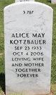 Profile photo:  Alice May Kotzbauer