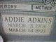 Profile photo:  Addie <I>Adkins</I> Brank