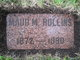 "Maud M ""Jennie"" <I>Brooks</I> Rollins"