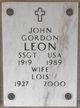 Profile photo: Sergeant John Gordon Leon