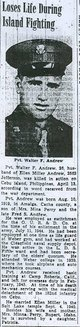 PVT Walter F Andrew