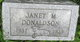Janet M Donaldson