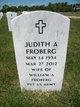 "Judith Anne ""Judy"" <I>Bates</I> Froberg"