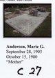 Marie <I>Gardner</I> Anderson