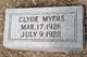 Profile photo:  Clyde Myers